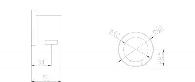Sapho Vývod sprchy, kulatý, chrom 1205-01