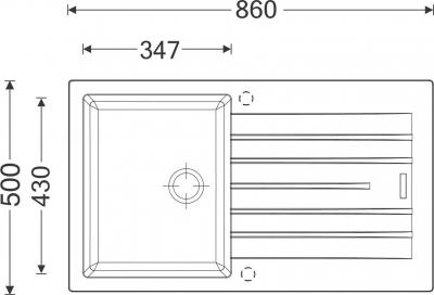 Granitový dřez Sinks PERFECTO 860 Titanium ACRPE86050072