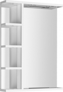 Aqualine KORIN zrcadlo s LED osvětlením a poličkami 50x70x12cm KO355