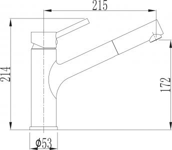 Sapho TUKA stojánková dřezová baterie s výsuvnou hubicí, chrom 1105-66