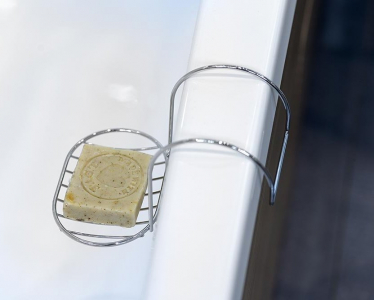 Aqualine STICK LINE, mýdlenka na okraj vany, chrom 90443