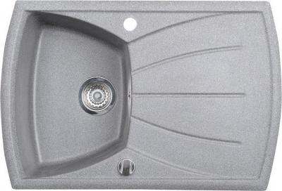 Sapho Dřez granitový vestavný s odkapávací plochou, 77x51 cm, šedá GR1103