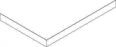 Gelco SARA panel čelní 120x90 cm, výška 10 cm, levý GP12090L