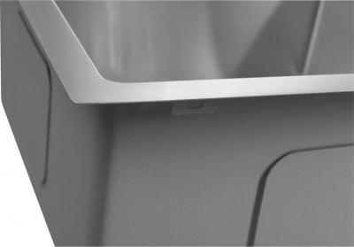 Sapho KIVA nerezový dřez s odkapem, 79x48x20 cm, provedení L EP829L