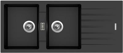 Granitový dřez Sinks PERFECTO 1160 DUO Metalblack ACRPE1160500274
