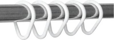Aqualine Kroužky na sprchový závěs 12 ks, plast, bílá 1493011