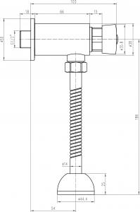 Aqualine Samouzavírací nástěnný ventil pro urinál, chrom ZY12022