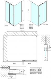 Polysan Easy Line obdélníkový sprchový kout 1300x900mm L/P varianta EL1315EL3315