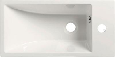 Sapho ARIANA umyvadlo 50x10x25cm, litý mramor, bílá, baterie vpravo SM016