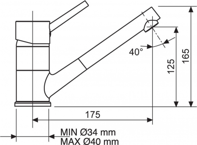 Sinks MIX 4000 P Metalblack AVMI400PGR74