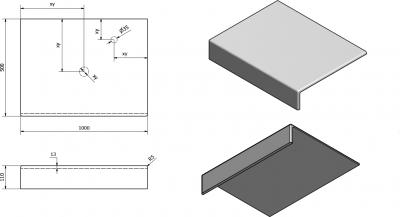 Sapho TAILOR rockstone deska 100x50 cm, provedení límce F TR100F