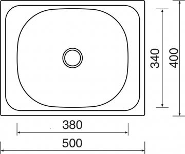 Nerezový dřez Sinks CLASSIC 500 V 0,6mm matný STSCLM5004006V