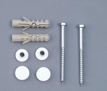 Aqualine MAK10 komplet pro kotvení WC mís, vrut 6x80, bílá 40024