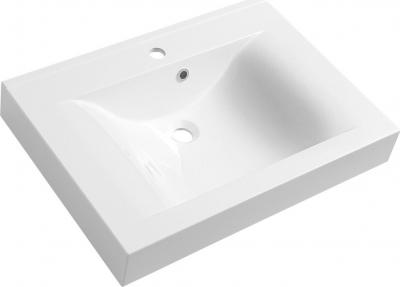 Sapho FLAVIA umyvadlo 70x50cm, litý mramor, bílá 68071