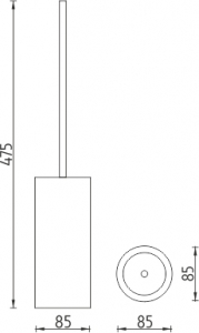 Nimco Pure Stojánkový WC kartáč PU 7094-75