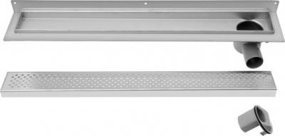 Aqualine KROKUS nerezový sprchový kanálek s roštem, ke zdi, 760x122x85 mm 2715-80