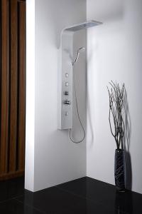 Aqualine TUSA sprchový panel, výška 1400mm, hliník SL680
