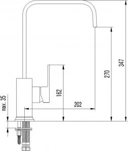 Sapho LATUS stojánková dřezová baterie , chrom HU330