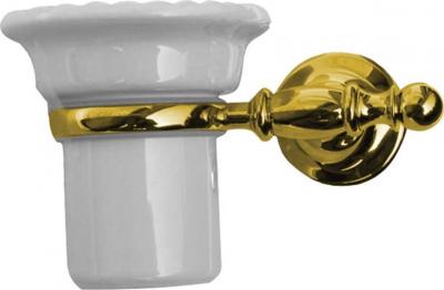 Sapho PERLA držák kartáčků, keramika, zlato PE1095