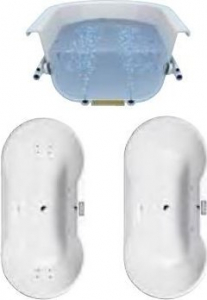 Polysan HM systém KOMBI POOL, ovládání Typ P - Pneumatické KMP