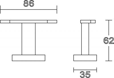 Aqualine APOLLO dvojháček, chrom 1416-23