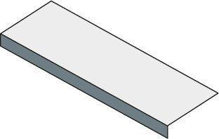 Sapho TAILOR rockstone deska 250x50 cm, provedení límce F TR250F