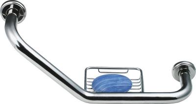 Bemeta Madlo zahnuté s drátěnou mýdlenkou, 460x220x125mm, leštěná nerez 106107031