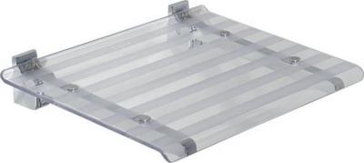 Sapho LEO sprchové sedátko 40x31cm, čirá 5368T