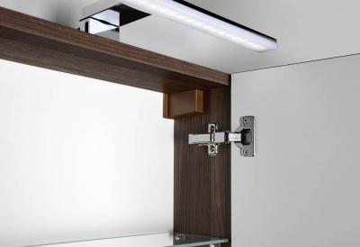 Sapho RIWA galerka s LED osvětlením, 60x70x17 cm, ořech bruno RW066