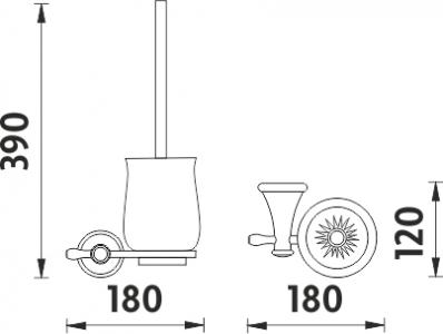 Nimco Lada staroměď Toaletní WC kartáč LA 19094K-80