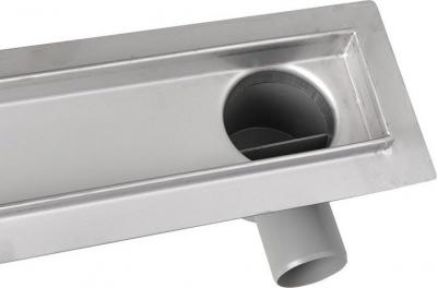 Aqualine PAVINO Nerezový sprchový kanálek s roštem pro dlažbu, 860x140x92 mm 2710-90