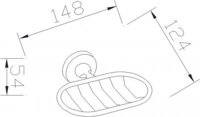 Aqualine SAMBA mýdlenka drátěná, chrom SB103