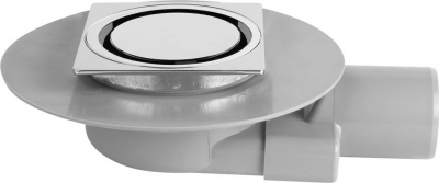 Omp Tea TIRANA podlahová vpusť boční 150x150 mm, odpad 50mm, chrom 2665.695.8