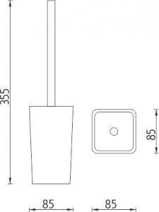 Nimco Eli Stojánkový WC kartáč  EL 3094-55