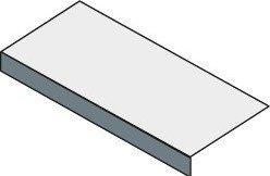 Sapho TAILOR rockstone deska 90x50 cm, provedení límce F TR090F