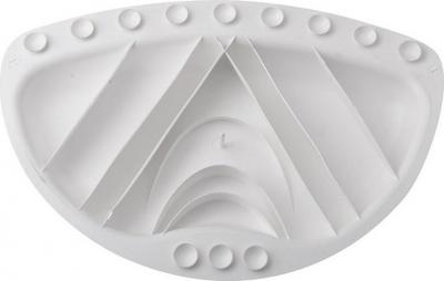 Aqualine TECNO podhlavník 30x20cm, bílá 68601