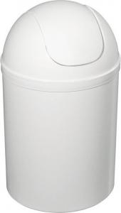 Aqualine Odpadkový koš výklopný, 5l, plast, bílá 20309