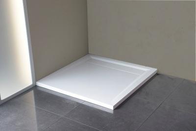 Polysan ARENA sprchová vanička z litého mramoru se záklopem, čtverec 90x90x4cm, bílá 71601