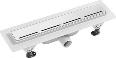 Polysan ROAD plastový sprchový kanálek s nerezovým roštem, 455x123x68 mm 72834