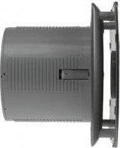 Cata X-MART 12H koupelnový ventilátor axiální s automatem, 20W, potrubí 120mm, nerez 01054000