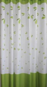 Aqualine Závěs 180x180cm, 100% polyester, zelené listy 16477