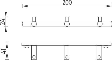 Nimco Bormo Trojháček s jednoduchými háčky BR 11103-26