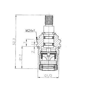 Sapho Uzavírací keramický vršek pro MG052, studená voda MG095