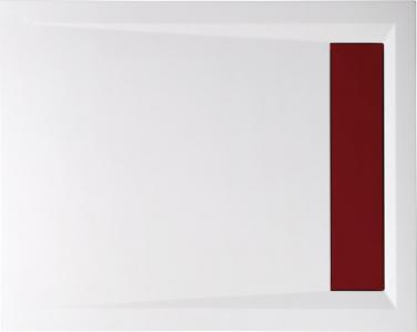Polysan VARESA sprchová vanička z litého mramoru se záklopem, obdélník 100x80x4cm, bílá 71605