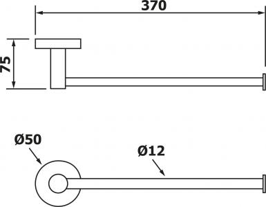 Aqualine SAMBA držák toaletního papíru rezervní, chrom SB118