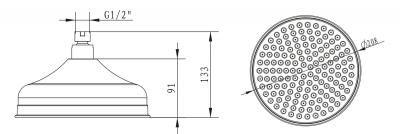 Sapho Hlavová sprcha retro, průměr 200mm, chrom MH026