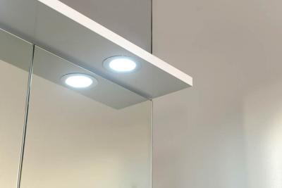 Aqualine KAWA galerka s LED osvětlením 60x70x25, 5cm, bílá WGL60
