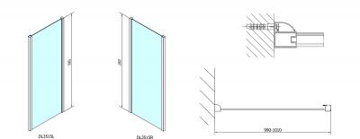 Polysan Lucis Line obdélníkový sprchový kout 1500x1000mm L/P varianta DL4215DL3515