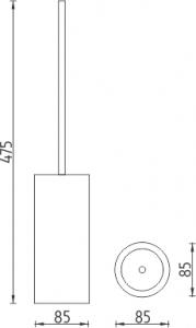 Nimco Pure Stojánkový WC kartáč PU 7094-60