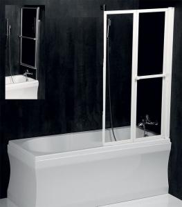 Polysan LANKA2 pneumatická vanová zástěna 830 mm, stříbrný rám, čiré sklo 37817